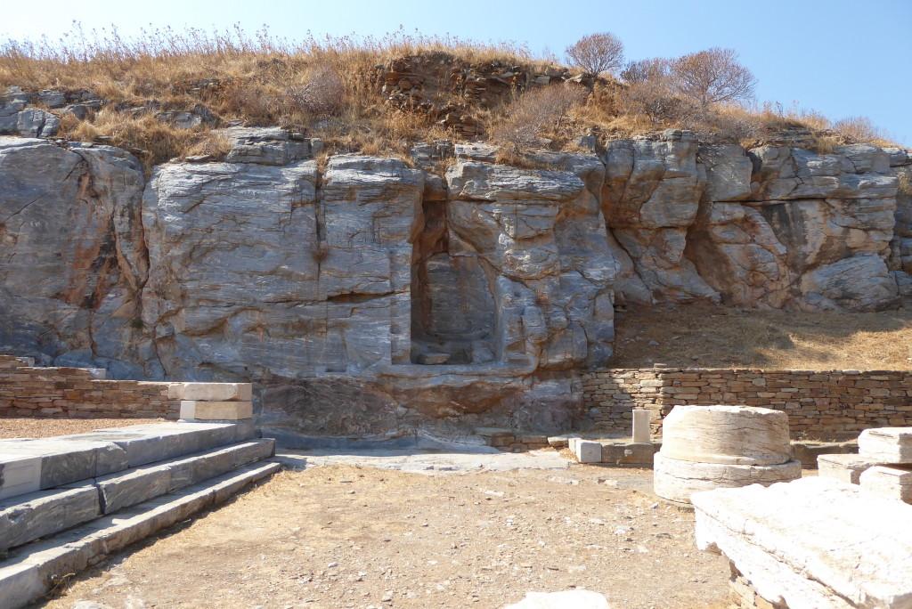 The niche where the statue of Apollo was found in 1811
