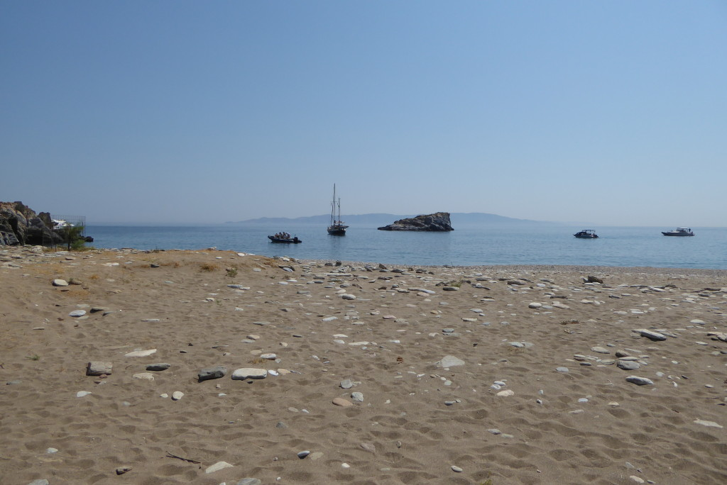 The beach at Karthaia - a perfect spot for lunch