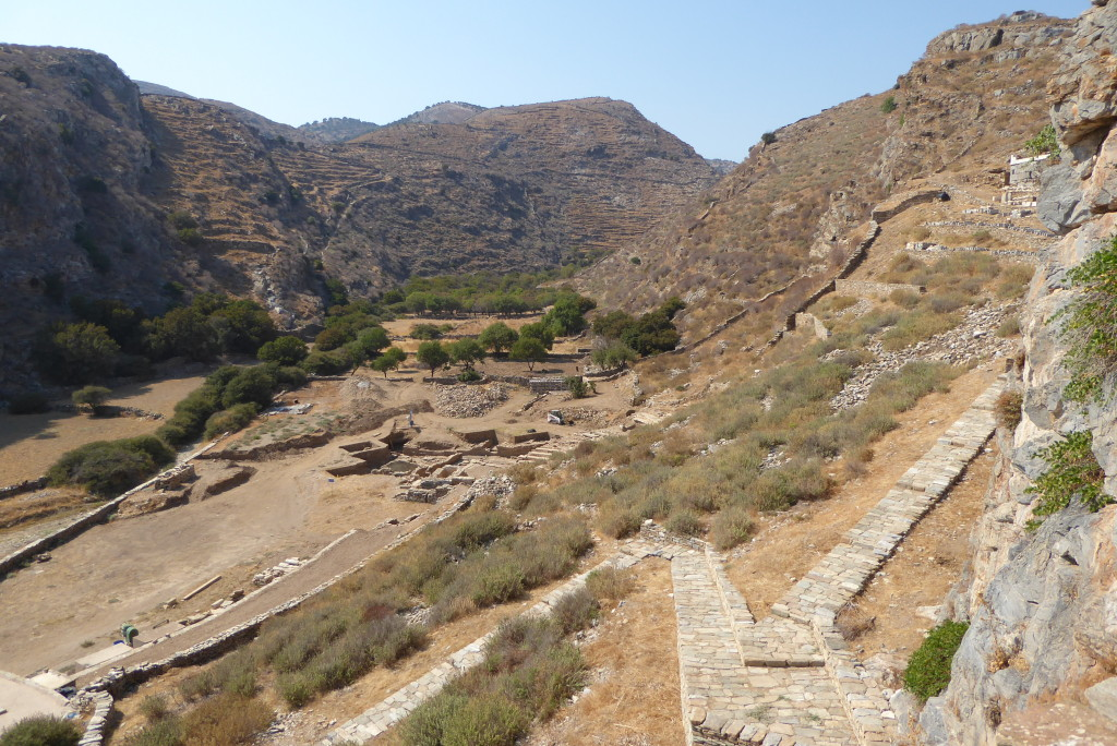 The western valley excavations close to the theatre