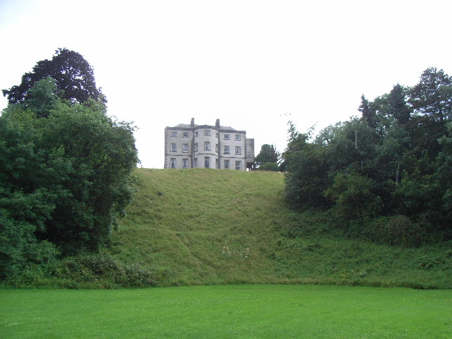 Beauparc House from the bank of the River Boyne