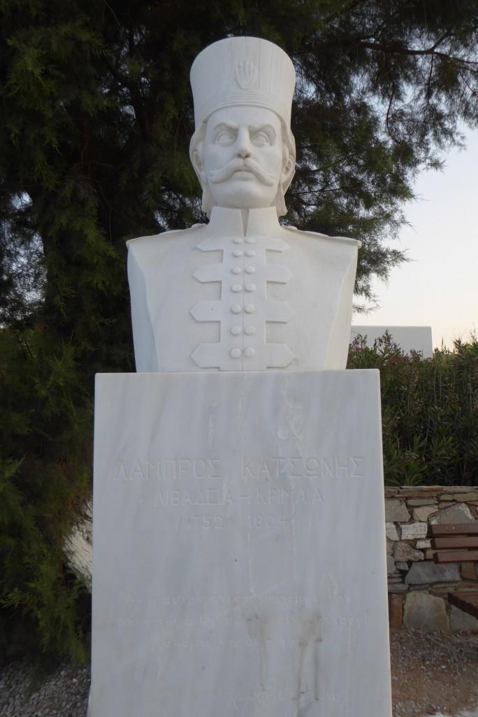 Statue of Lambros Katsonis in Korissia