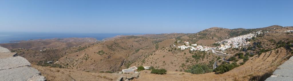 The Chora of Kea spread across the mountains
