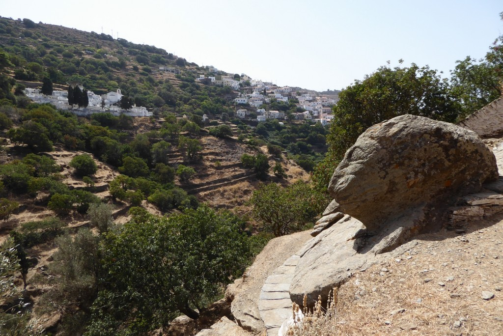 The Lion of Keos overlooking the Chora of Kea